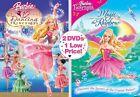 Barbie in the 12 Dancing Princesses/Barbie Fairytopia: Magic of the Rainbow (DVD, 2009, 2-Disc Set)