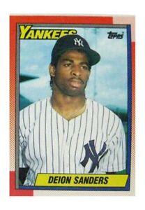 1990 Topps Deion Sanders New York Yankees 61 Baseball Card