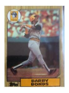1987 Topps Barry Bonds Pittsburgh Pirates 320 Baseball Card