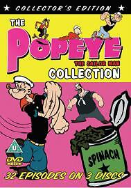 POPEYE COLLECTION DVD 3 DISC SET 32 EPISODES KIDS