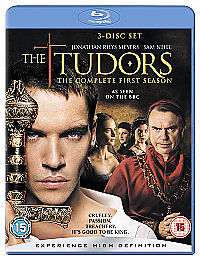 The Tudors - Series 1 - Complete (Blu-ray, 2007, 3-Disc Set)