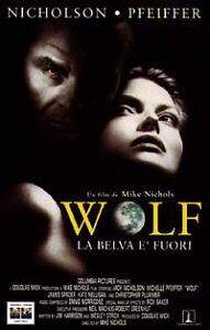 vhs Wolf La belva è fuori (1994) Jack Nicholson Michelle Pfeiffer Mike Nichols - Italia - vhs Wolf La belva è fuori (1994) Jack Nicholson Michelle Pfeiffer Mike Nichols - Italia