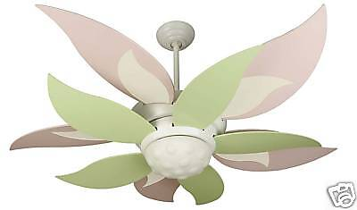Green ceiling fanebay 1 new craftmade bloom pink green blades ceiling fan 52 mozeypictures Gallery
