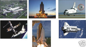 NASA-Space-Shuttle-6-Card-POSTCARD-Set