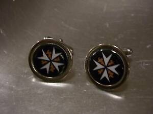 FREEMASON-MASONIC-KNIGHTS-OF-ST-JOHN-OF-MALTA-CUFFLINKS