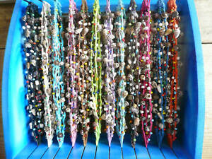 Pretty-Cotton-Surf-Shell-Bead-Bracelet-Anklet-Self-Tie-with-Free-Navy-Bracelet