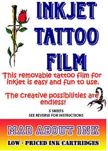 Temporary-Tattoo-Paper-For-Inkjet-Printers-Tattoo-Transfer-Paper-X-3-Sheets