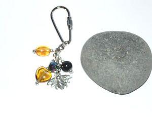 Pretty-tibetan-silver-bumble-bee-bag-charm-key-chain