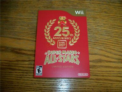 Super Mario All-stars 25th Anniversary Limited Edition Nintendo Wii Us Ntsc