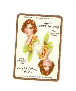 Vintage-CWS-Green-Olive-Soap-Single-Wide-Card-Stunning