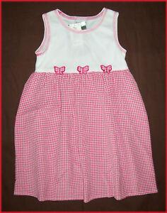 Size-2-BABY-GIRL-Dress-Stunning-Gingham-Patterned-Sleeveless-Dress-NEW