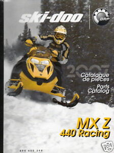 2007 SKI-DOO RACING SNOWMOBILE MX Z 440 PARTS MANUAL
