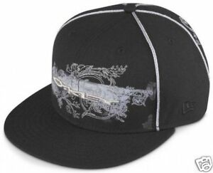 Oakley-Blurred-Black-New-Era-Cap-Bnwt-S-7-1-8-56-8cm