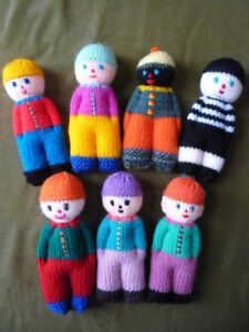 KNITTING PATTERN  TOY / DOLL - 6 INCH DOLL - ONE PIECE - SIMPLE # 13