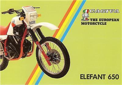 1986 Cagiva Elefant 650 Original 4 Page Brochure