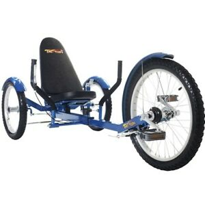 TriTon-20-3-WHEEL-Tricycle-RECUMBENT-Trike-Bike-Blue