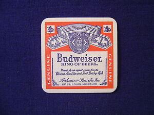 Budweiser beer cardboard coaster vintage unused bud ebay - Cardboard beer coasters ...