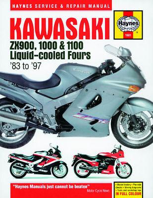 Kawasaki GPZ900R GPZ1000RX ZX10 ZZR1100 Haynes Manual