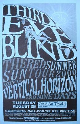 "THIRD EYE BLIND / VERTICAL HORIZON ""RED SUN TOUR 2000"" SAN DIEGO CONCERT POSTER"