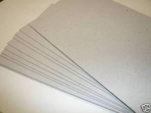 THICK GREY CRAFT CARD 500 x A5 GREY BOARDS 1.25mm 1250MIC