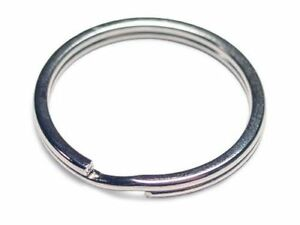 WHOLESALE-LOT-50-KEY-RINGS-SPLIT-RINGS-KEYCHAIN-28mm-1-1-8-034-D-WITH-FREE-SHIPPING