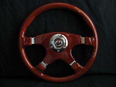 Raptor 15 Designo 4-spoke Wood Grain Steering Wheel