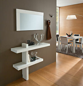 mobile ingresso console bianco lucido o frassino sandy ebay