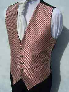 MENS-WEDDING-IVORY-WINE-DIAMOND-DRESS-SUIT-WAISTCOAT-34-36-38-40-42-44-46-48-50
