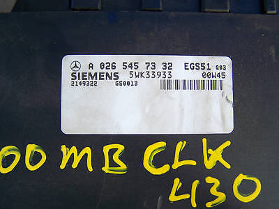 99 01 CLK430 S430 E430 Mercedes Benz TCM A 026 545 73 32 Transmission Computer