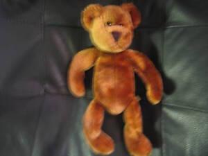 Logo-plush-Bean-Bag-Brown-Bear-10-sits-7-good-cond