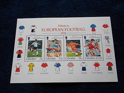 Gibraltar Souvenir Sheet MNH #710A European Football