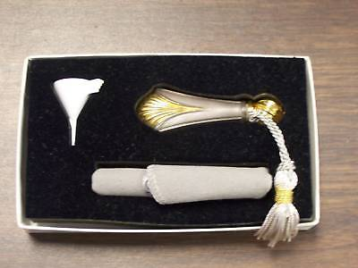 Lunt Gold Regency Shell Sterling Silver Perfume Vial-