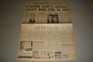 1945-AUGUST-17-BOSTON-HERALD-NEWSPAPER-MACARTHUR-ACCEPTS-APOLOGY-NP-778