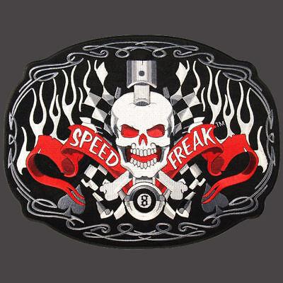 Speed Freak Skull Embroidered Biker Patch