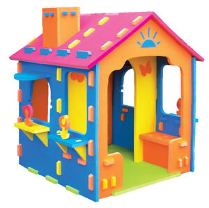 Childrens Cubby House - Foam Play House with Chimney