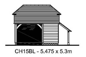 Ch15bl 1 5 Bay Oak Frame Garage Building Cart Lodge Chippy