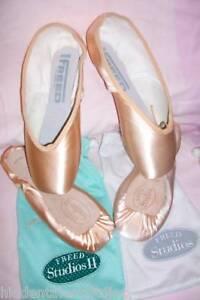 Women / Girl FREED Ballet Pink Pointe shoes STUDIO I AND STUDIO II MEDIUM SHANK