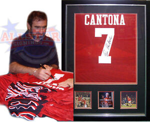 FRAMED-ERIC-CANTONA-SIGNED-MANCHESTER-UNITED-7-SHIRT-SEE-PROOF