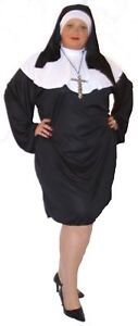 Short-Sassy-NUN-fancy-dress-costume-EVERY-PLUS-SIZE-And-Cross