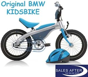 original bmw kidsbike mit helm kids bike blau fahrrad. Black Bedroom Furniture Sets. Home Design Ideas
