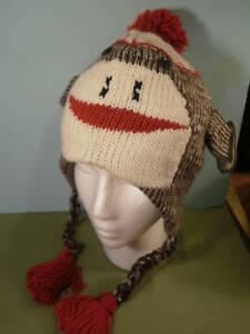 SOCK-MONKEY-Hat-New-FREE-SHIPPING-Fleece-Youth-Adult