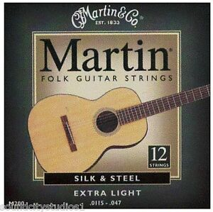 martin m200 12 string silk and steel folk acoustic guitar strings. Black Bedroom Furniture Sets. Home Design Ideas