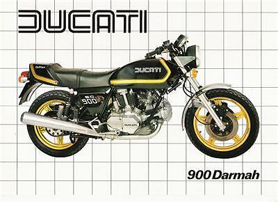 1982 Ducati Darmah 900sd Latest Black Bike Brochure