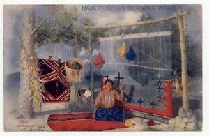 1904 NAVAJO INDIAN BLANKET WEAVER POSTCARD PC3908