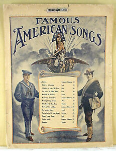 AMERICA-FAMOUS-AMERICAN-SONGS-1900-LARGE-FORMAT-SHEET-MUSIC