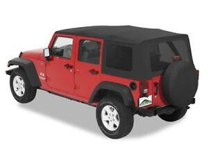 2010 2016 jeep wrangler jk unlimited black replacement soft top. Black Bedroom Furniture Sets. Home Design Ideas