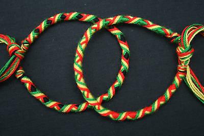 Lot de 2 Bracelets Brésiliens - RASTA -REGGAE (16 cm) 2