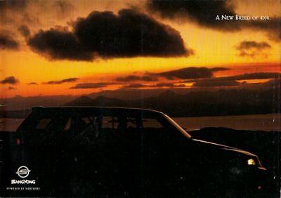Ssangyong Musso 1995-97 UK Market Sales Brochure 2.9 Diesel Standard SE GSE