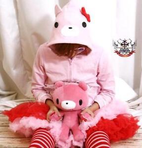 Kera-Punk-Gloomy-Hooded-Kill-Pink-Bear-CUB-Parka-Jacket