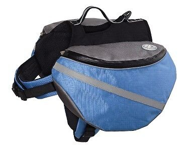 Doggles Dog Extreme Outdoor Ex Backpack Blue/gray Md